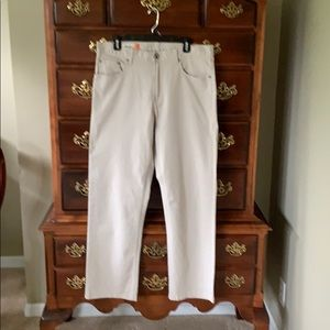 Faconnable cream colored jeans size 35R